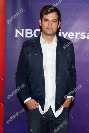 Michael Kosta arrives at the NBCUniversal New York Summer Press Day event at The Four Seasons Hotel, in New York
