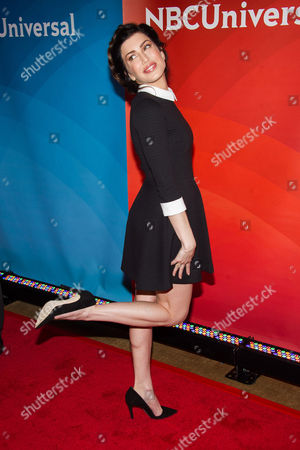 Stevie Ryan arrives at the NBCUniversal New York Summer Press Day event at The Four Seasons Hotel, in New York