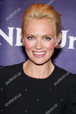 Josephine Bornebusch arrives at the NBCUniversal New York Summer Press Day event at The Four Seasons Hotel, in New York