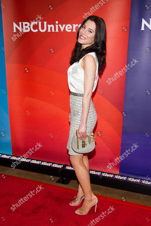 Stock Image of Jaime Murray arrives at the NBCUniversal New York Summer Press Day event at The Four Seasons Hotel, in New York