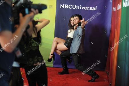 Teddy Forance and Jaimie Goodwin attend the second day of NBCUniversal's 2012 Summer Press Tour at the Beverly Hilton Hotel, in Beverly Hills, Calif
