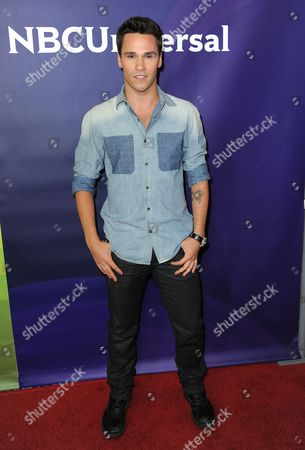 Nick Lazzarini attends the second day of NBCUniversal's 2012 Summer Press Tour at the Beverly Hilton Hotel, in Beverly Hills, Calif