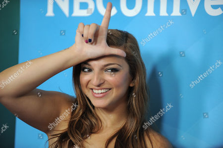 Stock Image of Aylin Bayramuglu attends the second day of NBCUniversal's 2012 Summer Press Tour at the Beverly Hilton Hotel, in Beverly Hills, Calif