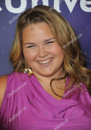 Stock Picture of Lily Mae Harrington attends the second day of NBCUniversal's 2012 Summer Press Tour at the Beverly Hilton Hotel, in Beverly Hills, Calif