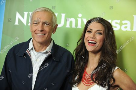 General Wesley Clark and Samantha Harris attend NBCUniversal's 2012 Summer Press Tour at the Beverly Hilton Hotel, in Beverly Hills, Calif
