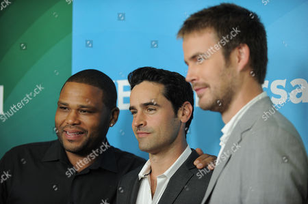 Jesse Bradford, Anthony Anderson and Zach Cregger attend NBCUniversal's 2012 Summer Press Tour at the Beverly Hilton Hotel, in Beverly Hills, Calif