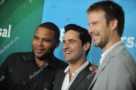 Actors, from left, Jesse Bradford, Anthony Anderson and Zach Cregger attend NBCUniversal's 2012 Summer Press Tour at the Beverly Hilton Hotel, in Beverly Hills, Calif