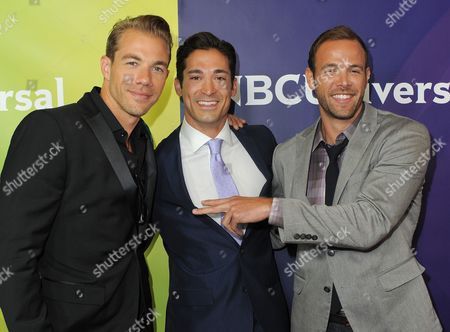 Attends NBCUniversal's 2012 Summer Press Tour at the Beverly Hilton Hotel, in Beverly Hills, Calif. (Photo by Jordan Strauss/Invision/AP)(L-R) Tim Lopez, Ernesto Arguello and Ben Patton attend NBCUniversal's 2012 Summer Press Tour at the Beverly Hilton Hotel on Tuesday, July 24, 2012, in Beverly Hills, Calif