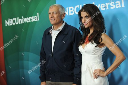 Stock Image of Ret. Gen. Wesley Clark and Samantha Harris attend NBCUniversal's 2012 Summer Press Tour at the Beverly Hilton Hotel, in Beverly Hills, Calif