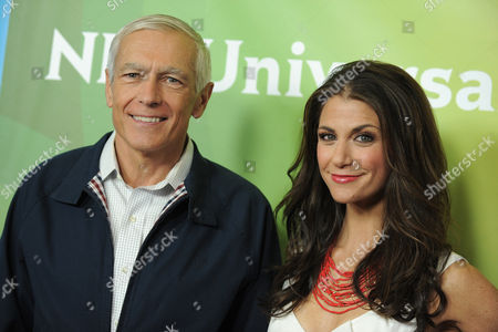 Ret. Gen. Wesley Clark and Samantha Harris attend NBCUniversal's 2012 Summer Press Tour at the Beverly Hilton Hotel, in Beverly Hills, Calif