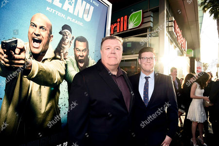 """Joel McKinnon Miller and Owen Miller seen at New Line Cinema Los Angeles Premiere of """"Keanu"""" at ArcLight Cinerama Dome Theater, in Hollywood"""