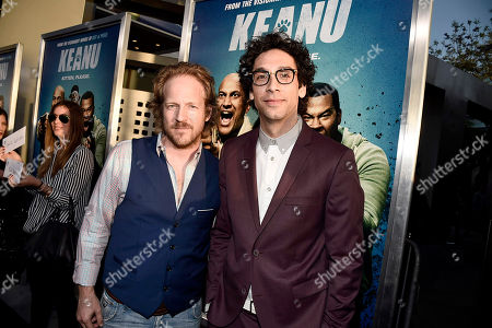 "David Sullivan and Rick Glassman seen at New Line Cinema Los Angeles Premiere of ""Keanu"" at ArcLight Cinerama Dome Theater, in Hollywood"