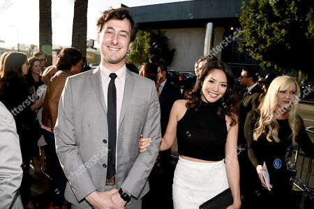 """Stock Photo of Writer Alex Rubens and Emily Chang seen at New Line Cinema Los Angeles Premiere of """"Keanu"""" at ArcLight Cinerama Dome Theater, in Hollywood"""