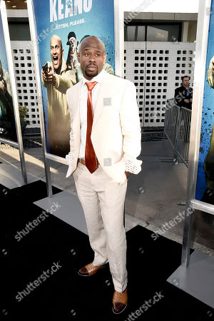 """Jamar Malachi Neighbors seen at New Line Cinema Los Angeles Premiere of """"Keanu"""" at ArcLight Cinerama Dome Theater, in Hollywood"""