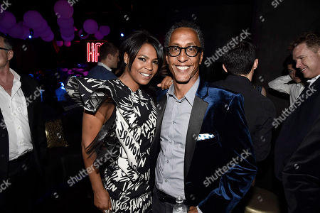 """Nia Long and Andre Royo seen at New Line Cinema Los Angeles Premiere of """"Keanu"""" at ArcLight Cinerama Dome Theater, in Hollywood"""