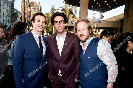 "Rob Huebel, Rick Glassman and David Sullivan seen at New Line Cinema Los Angeles Premiere of ""Keanu"" at ArcLight Cinerama Dome Theater, in Hollywood"