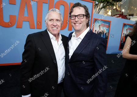 "Dan Fellman, President of Domestic Distribution for Warner Bros. Pictures and producer David Dobkin seen at the New Line Cinema presents the Premiere of ""Vacation"" held at Regency Village Theatre, in Westwood, Calif"