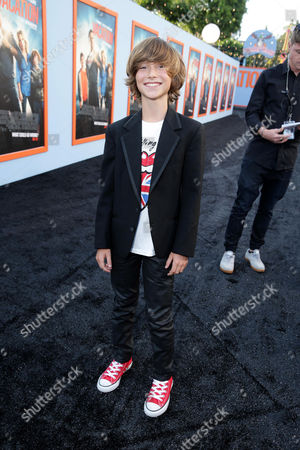 """Steele Stebbins seen at the New Line Cinema presents the Premiere of """"Vacation"""" held at Regency Village Theatre, in Westwood, Calif"""