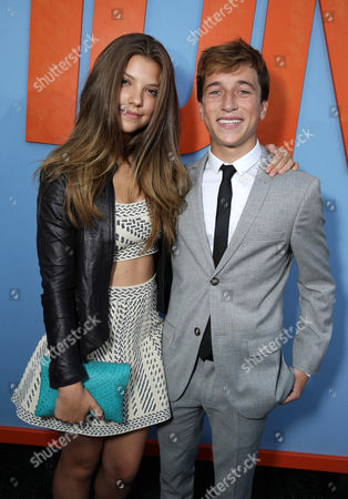 """Catherine Missal and Skyler Gisondo seen at the New Line Cinema presents the Premiere of """"Vacation"""" held at Regency Village Theatre, in Westwood, Calif"""