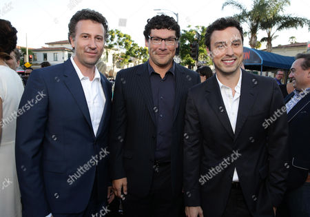 """Writer/Director/Producer Jonathan Goldstein, New Line Cinema's Richard Brenner and Writer/Director/Producer John Francis Daley seen at the New Line Cinema presents the Premiere of """"Vacation"""" held at Regency Village Theatre, in Westwood, Calif"""