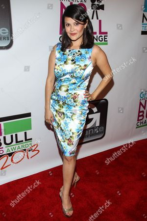 Actress Romi Dames arrives at the No Bull Teen Video Awards at the Westin LAX Hotel on in Los Angeles