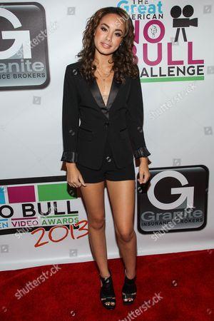 Actress Savannah Jayde arrives at the No Bull Teen Video Awards at the Westin LAX Hotel on in Los Angeles