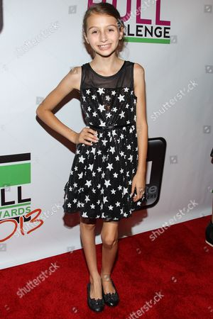 Actress Sophia Strauss arrives at the No Bull Teen Video Awards at the Westin LAX Hotel on in Los Angeles