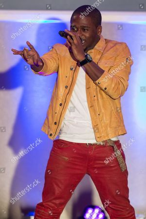 Stock Image of Singer-songwriter Marcus Canty performs on stage during the No Bull Teen Video Awards at the Westin LAX Hotel on in Los Angeles
