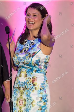 Actress Romi Dames presents the award for Best Directing during the No Bull Teen Video Awards at the Westin LAX Hotel on in Los Angeles