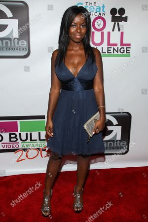 Actress Camille Winbush arrives at the No Bull Teen Video Awards at the Westin LAX Hotel on in Los Angeles