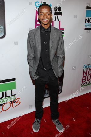 Actor Coy Stewart arrives at the No Bull Teen Video Awards at the Westin LAX Hotel on in Los Angeles