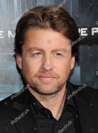 """Director Mikael Hafstrom attends the premiere of """"Escape Plan"""" at the Regal E-Walk on in New York"""