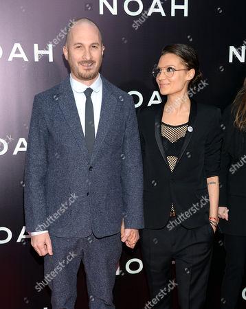 "Director Darren Aronofsky and girlfriend Brandi-Ann Milbradt attend the premiere of ""Noah"" at the Ziegfeld Theatre on in New York"
