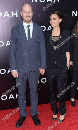 """Director Darren Aronofsky and Brandi-Ann Milbradt arrive at NY Premiere of """"Noah"""" on in New York"""