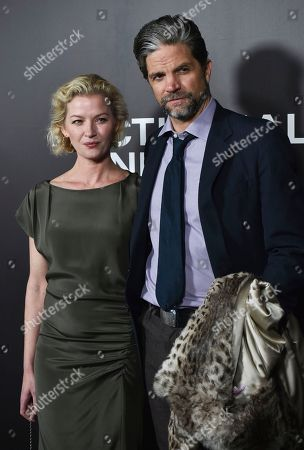 "Stock Image of Gretchen Mol and husband Tod Williams attend the premiere of ""Nocturnal Animals"" at the Paris Theatre, in New York"