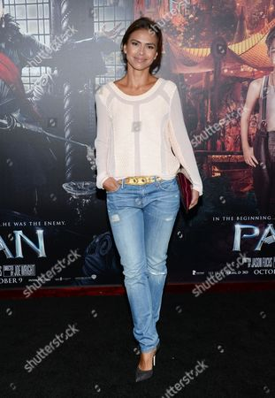 "CBS news anchor Kristine Johnson attends the premiere of ""Pan"" at the Ziegfeld Theatre, in New York"