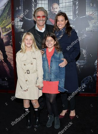 "Geraldo Rivera and family attend the premiere of ""Pan"" at the Ziegfeld Theatre, in New York"