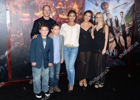 "CBS news anchor Kristine Johnson and family attend the premiere of ""Pan"" at the Ziegfeld Theatre, in New York"