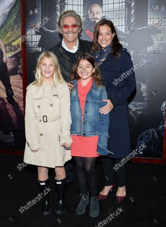 "Erica Levy Geraldo Rivera and family attend the premiere of ""Pan"" at the Ziegfeld Theatre, in New York"