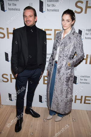 """Guillermo Pfening and Sofia Sanchez de Betak attend the premiere of """"Shelter"""" at the Whitney Museum of Art, in New York"""