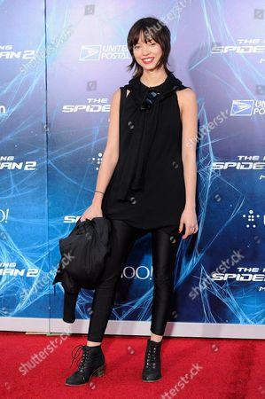"""Stock Picture of Actress Julia Morrison attends the premiere of """"The Amazing Spider-Man 2"""" at the Ziegfeld Theatre on in New York"""