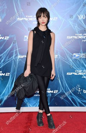 """Stock Image of Actress Julia Morrison attends the premiere of """"The Amazing Spider-Man 2"""" at the Ziegfeld Theatre on in New York"""