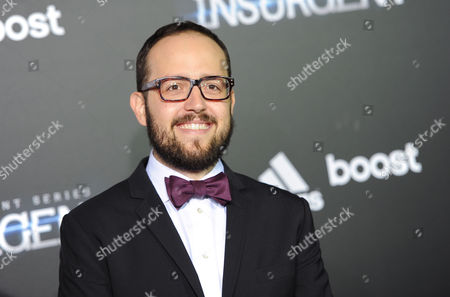 """Composer Joseph Trapanese attends the premiere of """"The Divergent Series: Insurgent"""" at the Ziegfeld Theatre, in New York"""
