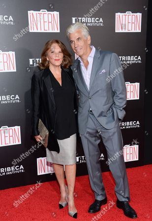 """Stock Image of Actress Linda Lavin and husband Steve Bakunas attend the premiere of """"The Intern"""" at the Ziegfeld Theatre, in New York"""