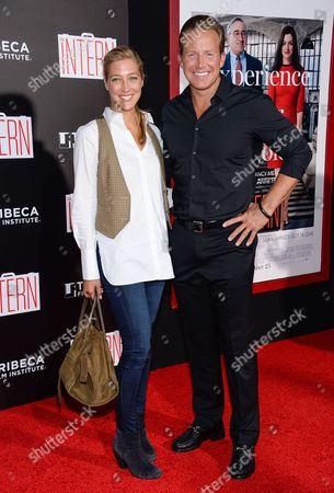 """Chris Wragge and guest attend the premiere of """"The Intern"""" at the Ziegfeld Theatre, in New York"""