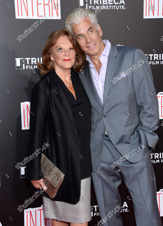 """Stock Picture of Linda Lavin, left, and Steve Bakunas attend the premiere of """"The Intern"""" at the Ziegfeld Theatre, in New York"""