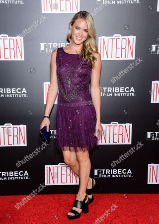 "Theodora Woolley attends the premiere of ""The Intern"" at the Ziegfeld Theatre, in New York"
