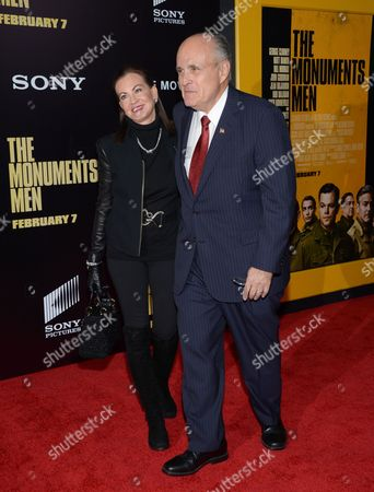 """Rudy Giuliani and wife Judith Nathan attend the premiere of """"The Monuments Men"""" at the Ziegfeld Theatre on in New York"""