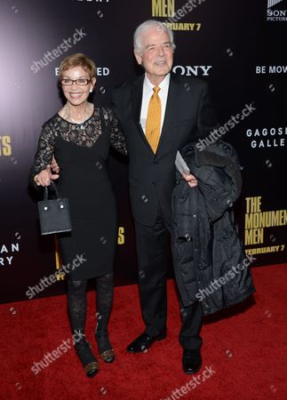 """Actor George Clooney's parents Nina and Nick Clooney attend the premiere of """"The Monuments Men"""" at the Ziegfeld Theatre on in New York"""