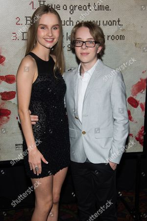 "Olivia DeJonge and Ed Oxenbould attend a special screening of ""The Visit"" at the Regal Union Square, In New York"